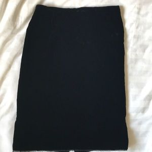 Ralph Lauren silk blend black velvet pencil skirt